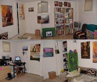 skewed view of my room