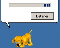 perro buscando