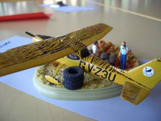 A diorama with a Cessna 172