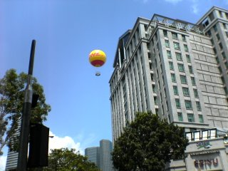 Bugis Village DHL Ballon Over Parco Junction