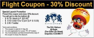 DHL Balloon Attraction Discount Coupon
