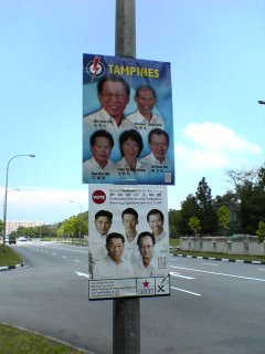 GE 2006 Tampines GRC Political Parties
