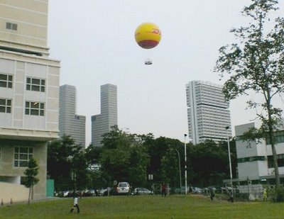 DHL Balloon Attraction at Bugis Junction
