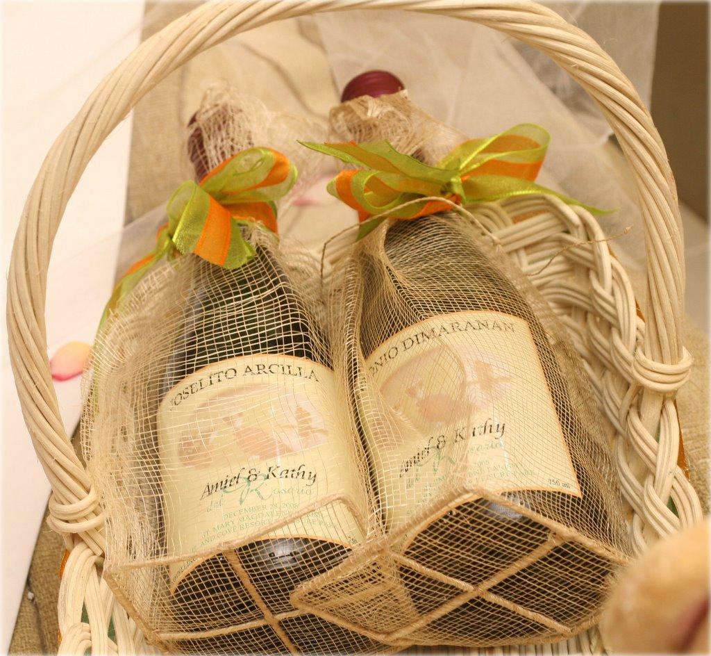 Wedding Favor Ideas For Principal Sponsors : Principal Sponsors Give Aways: NOVELLINO WINES