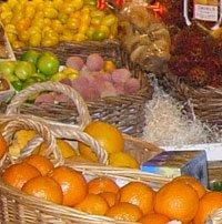 Frukt i Hötorgshallen, höger om rulltrappan