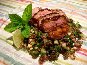 Kalvytterfilé med quinoasallad