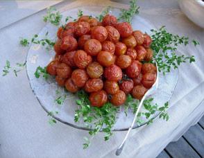 Rostade tomater och timjan i Skärgården