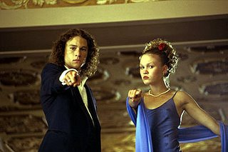 Heath Ledger and Julie Stiles in 10 Things I Hate About You