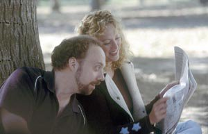 Virginia Madsen and Paul Giamatti in Sideways