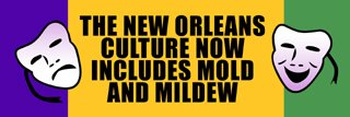 The New Orleans culture now includes mold and mildew