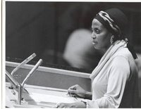 Miriam Makeba ONU 27 Oct.1976, Photo United Nations/Y.Nagata