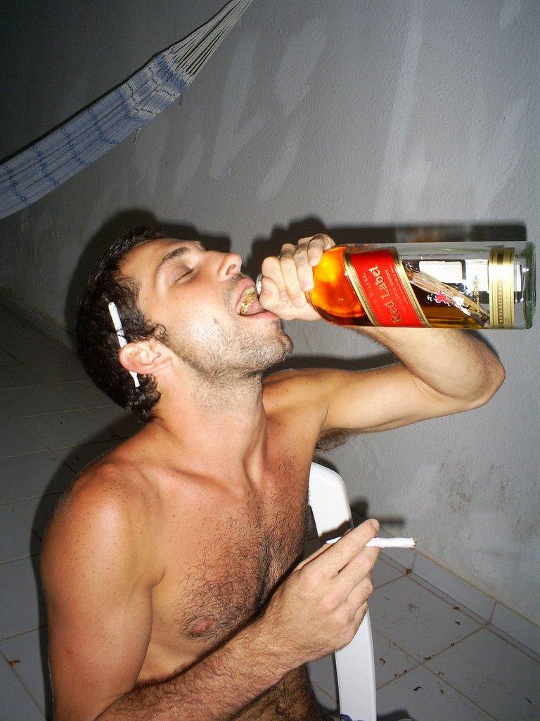 Não a drogas a alcoolismo de foto