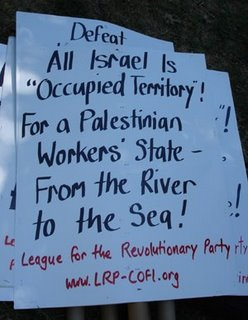 "Picture: sign from an anti-Israel demonstration saying, ""All Israel is Occupied Territory"""