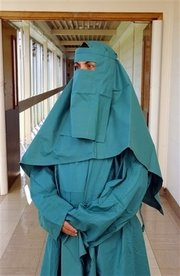 Picture: Photograph illustrating the new burka gown for female Muslim patients in Britain