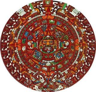 Picture: an Aztec calendar