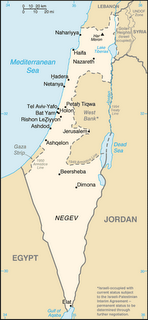 Picture: map showing the borders of the state of Israel