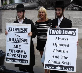 Picture: Naturei Karta traitors in an anti-Israel demonstration.