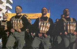 Picture: Hizbullah fighters with suicide vests strapped on them