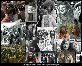 Picture: collage of pictures of hippies