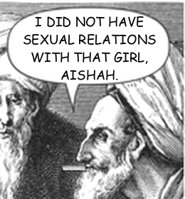 "Picture: Prophet Clinton saying, ""I did not have sexual relations with that girl, Aishah."""