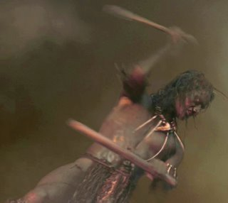 Picture: a Skull Island drummer beating the drum, from the 2005 King Kong.
