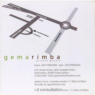 Map to GemaRimba