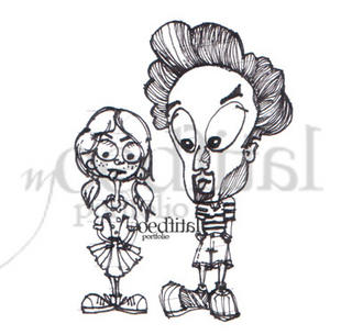 My recent sketch of Papa Afro & interpretation of Miss Rooty's character