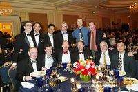 Last year's gala table