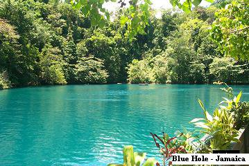 The Blue Hole -World Famous Attraction- Jamaica, West Indies
