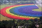 World's Largest Human Rainbow