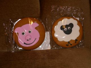 pig and sheep biscuits