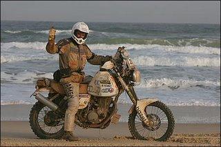 Karel op zijn moto