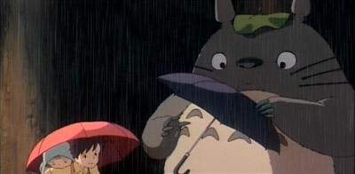 Totoro takes an umbrella