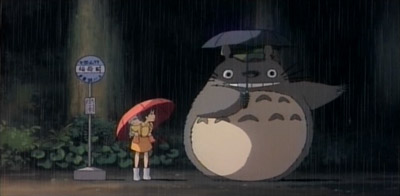 Totoro preparing to jump