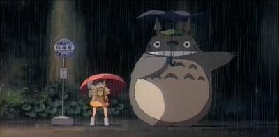 Satsuki lands, Totoro waits