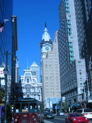 Philadelphia city hall seen from the hotel