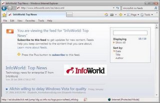 Adding an RSS Feed in Internet Explorer 7
