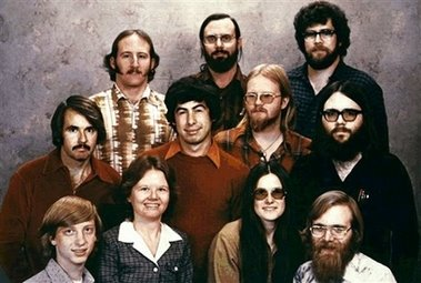 1978 dated picture of the founding members of Microsoft