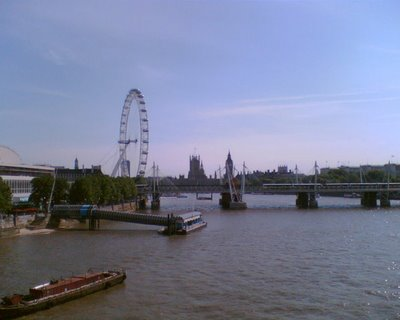 West from Waterloo bridge