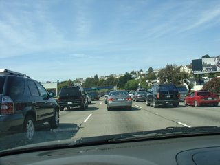 Familiar traffic pattern for bay areans on 101