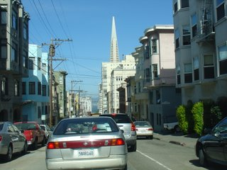 Transamerica Pyramid in the middle