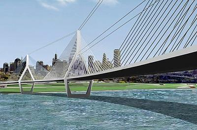 New Peace Bridge into Buffalo