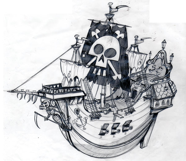 Pirate ship drawing - photo#21
