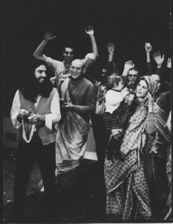 1968, London, George met Krishna devotees after his return from Rishikesh with the other Beatles. Photo © Bhaktivedanta Book Trust, Int'l