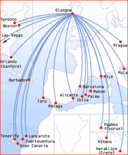 Flyglobespan flights from Glasgow Airport