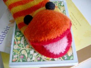 Slimey the Worm Puppet free knitting pattern felted sesame street muppet