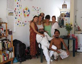 At the House of the then representants in Cancun of the MAYA PAN RAP -Planetary Art Network- En la casa del entonces representantes en el area de la Red de Arte Planetario -RAP-