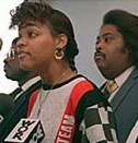 Tawana Brawley with Al Sharpton