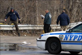 Police search Brooklyn crime scene