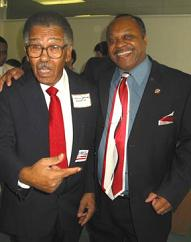 Harris Johnson (left) - former state Democratic party official
